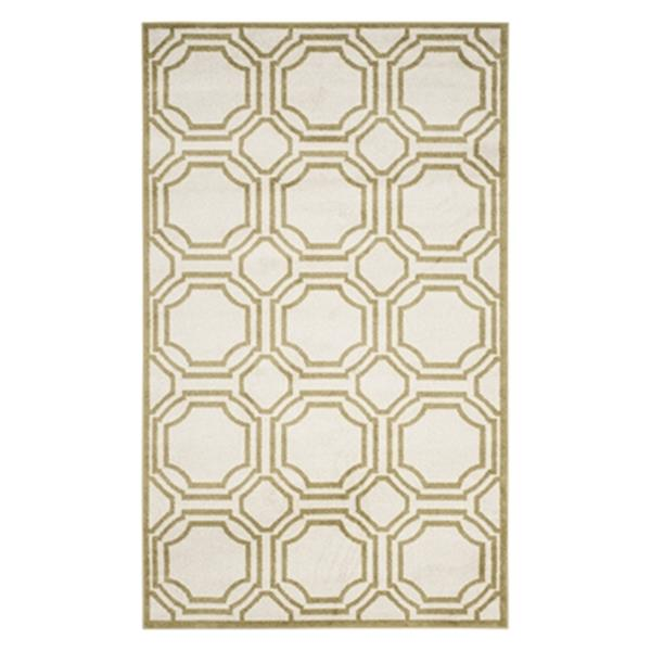 Safavieh Amherst 6 ft x 9 ft Ivory and Light Green Indoor/Outdoor Rug