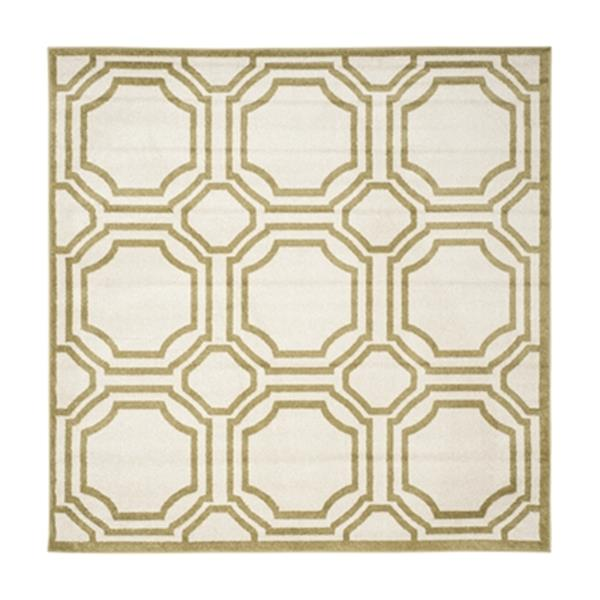 Safavieh Amherst 7 ft x 7 ft Ivory and Light Green Indoor/Outdoor Rug