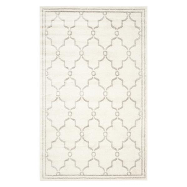 Safavieh Amherst 6 ft x 9 ft Ivory and Light Grey Geometric Indoor/Outdoor Rug