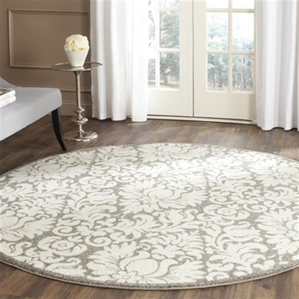 Safavieh Dark Grey and Beige Amherst Indoor/Outdoor Rug,AMT4
