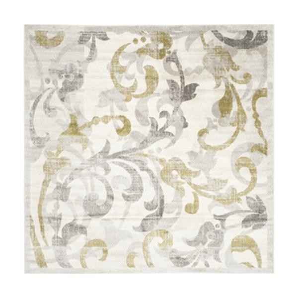 Safavieh Ivory and Light Grey Amherst Indoor/Outdoor Rug,AMT