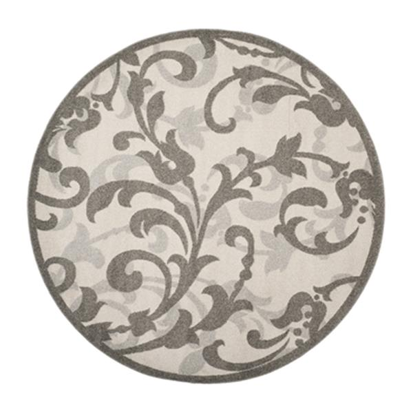 Safavieh Ivory and Tan Amherst Indoor/Outdoor Rug,AMT428K-7R