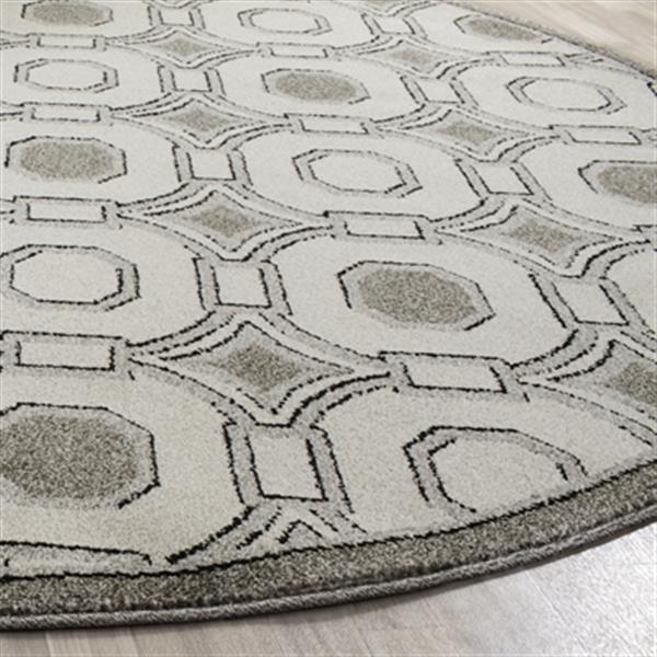 Safavieh Veranda 7-ft Square Ivory/Grey Geometric Indoor/Outdoor Rug