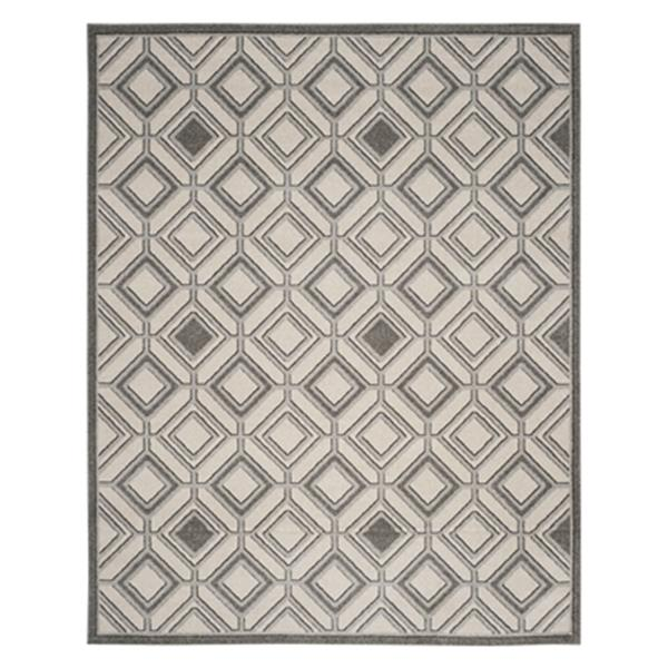 Safavieh Veranda 7-ft x 10-ft Ivory/Grey Geometric Indoor/Outdoor Rug