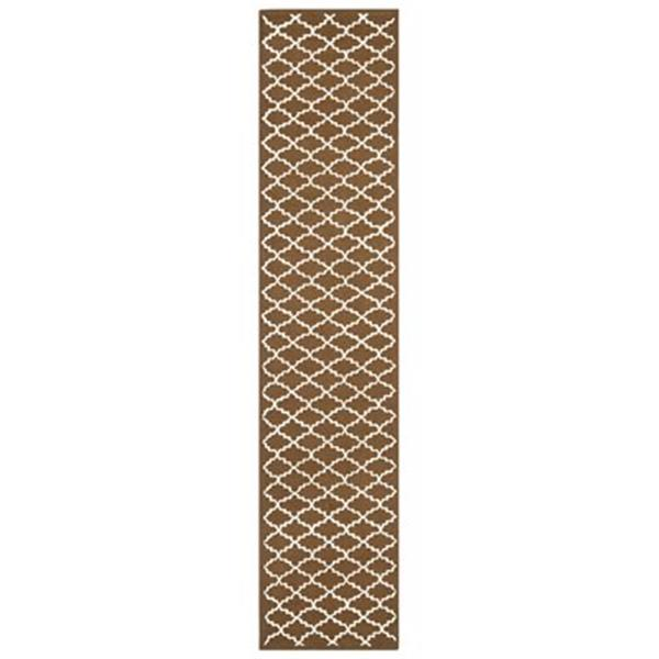 Safavieh Newport 27-in. Chocolate/Ivory Runner