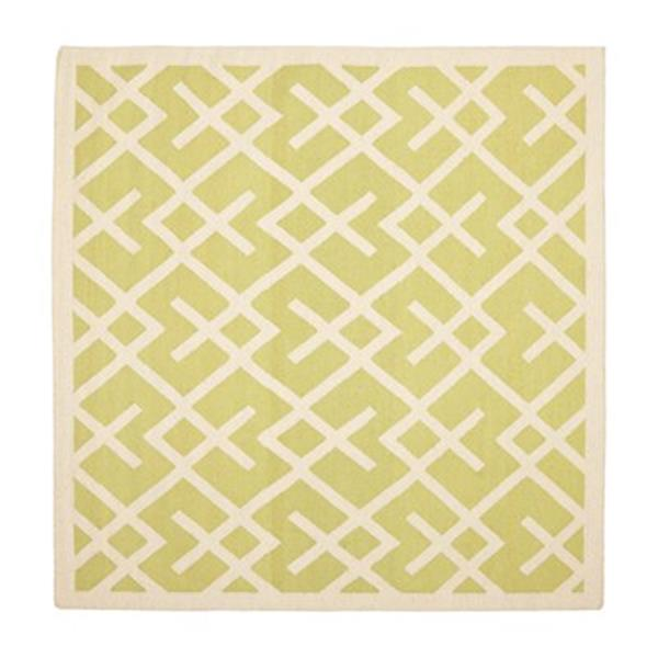 Safavieh Dhurries Light Green and Ivory Area Rug,DHU552A-6SQ