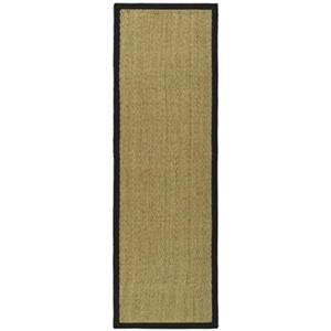 Safavieh Natural Fiber 30-in. Natural/Black Runner