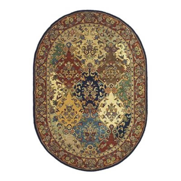 Safavieh Heritage Multi-Colored Area Rug,HG911A-5OV