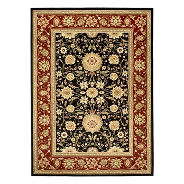 Safavieh Lyndhurst Black and Red Area Rug,LNH212G-6