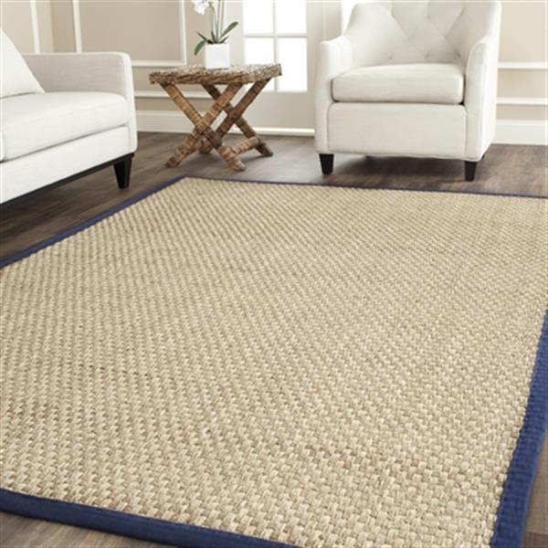 Safavieh Natural Fiber Beige and Blue Area Rug,NF114E-6