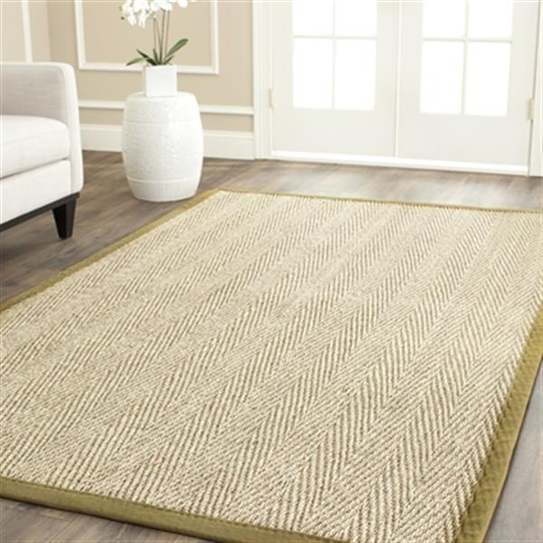 Safavieh Natural Fiber Natural and Olive Area Rug,NF115G-6