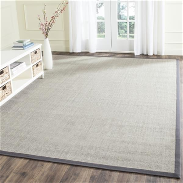 Safavieh NF441B Natural Fiber Marble and Grey Area Rug,NF441