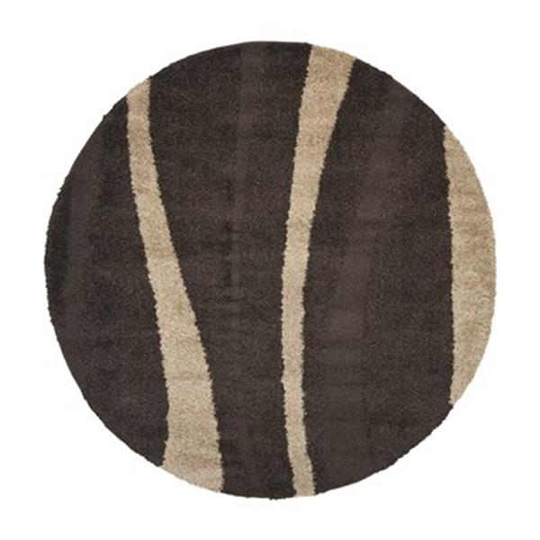 Safavieh SG451-2813 Florida Shag Area Rug, Dark Brown,SG451-