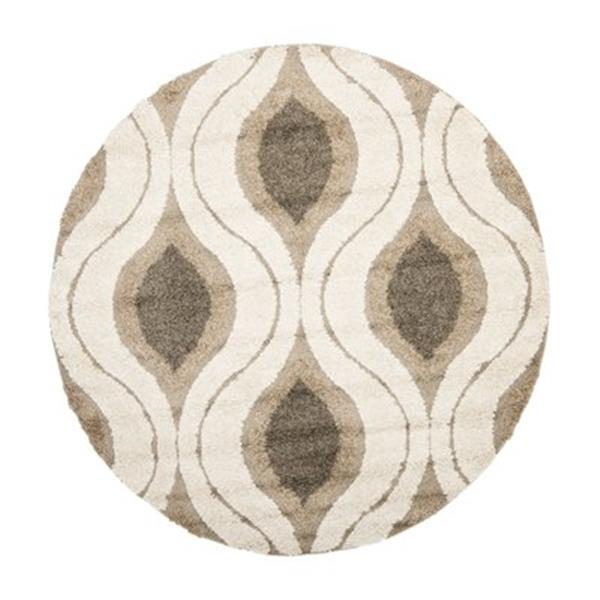 Safavieh Florida Shag Crèam and Smoke Area Rug,SG461-