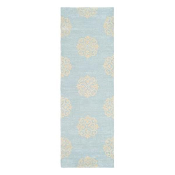 Safavieh Soho 30-in. Turquoise/Yellow Runner