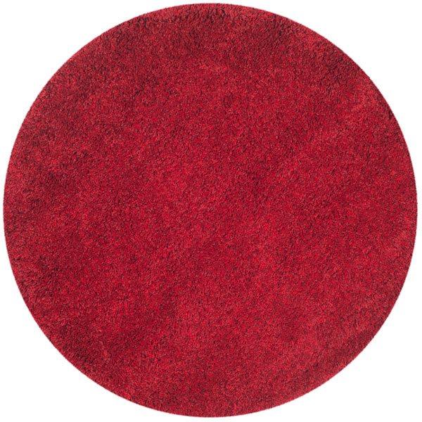 Safavieh California Shag Power Loomed Red Area Rug,SG151-404