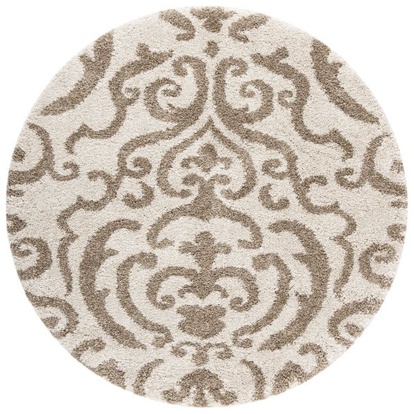 Safavieh Florida Shag Hand Hooked Cream and Beige Area Rug,S