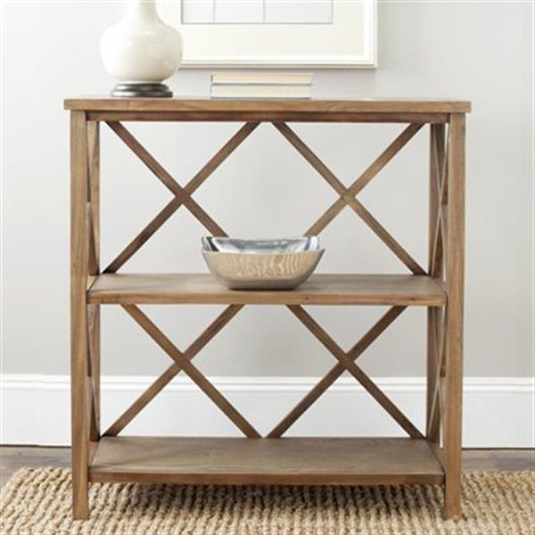 Safavieh Liam American Home Oak Open Back Bookcase