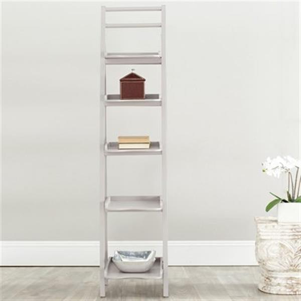 Safavieh Asher 71.3-in x 16.5-in Grey Leaning Etagere