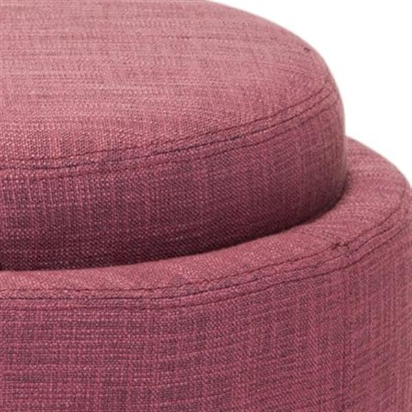 Safavieh Chelsea 17.00-in x 19.00-in Rose Polyester Tray Ottoman