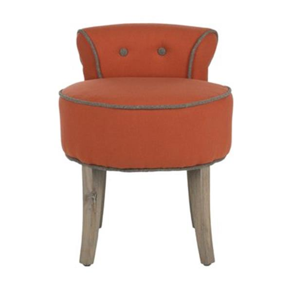 Safavieh Orange Georgia Vanity Chair