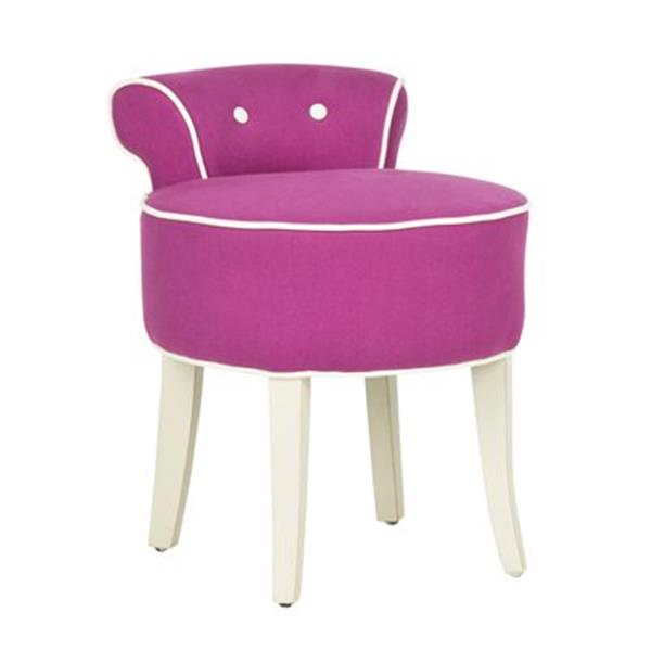 Safavieh Pink Georgia Vanity Chair