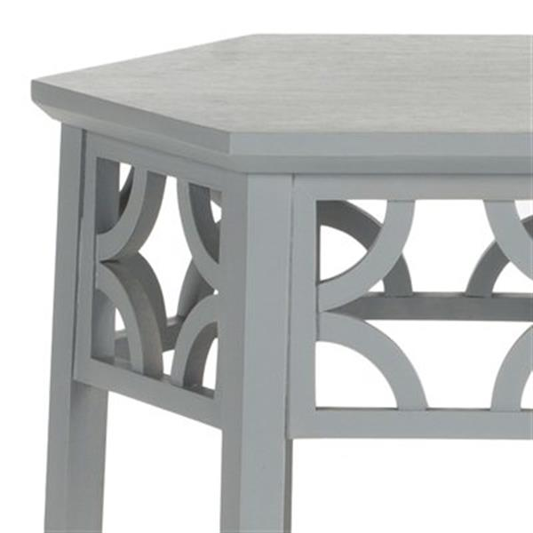 Safavieh Connor 18.1-in Pearl Blue Grey Hexagon End Table