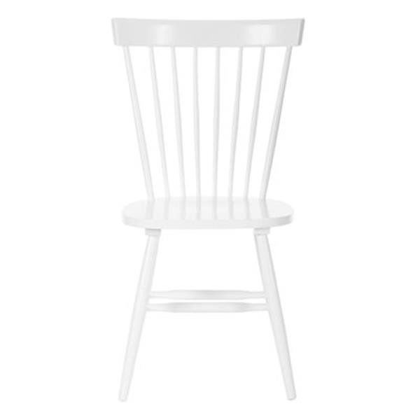 Safavieh Parker 36-in White Dining Chairs (Set of 2)