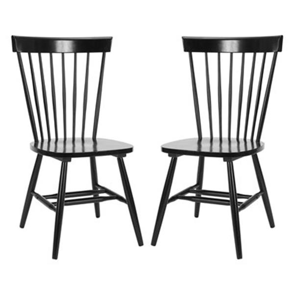 Safavieh Parker 36-in Black Dining Chairs (Set of 2)
