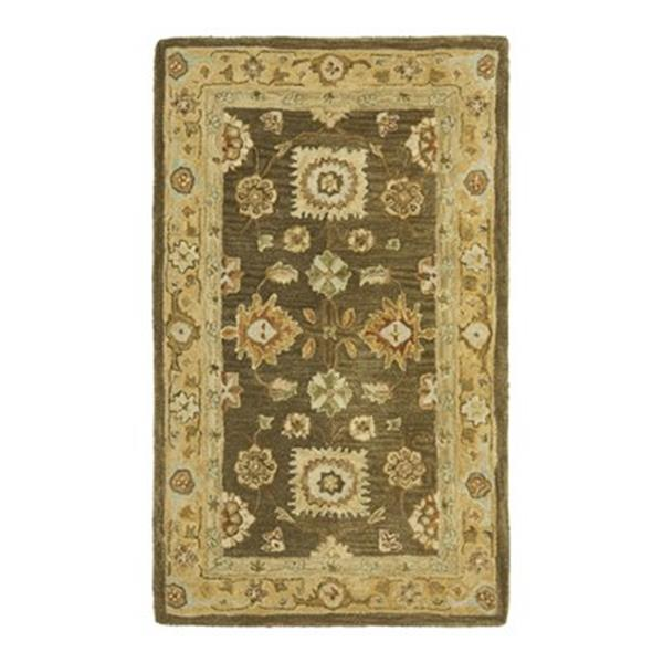 Safavieh AN556C Anatolia Area Rug, Brown/Taupe,AN556C-4