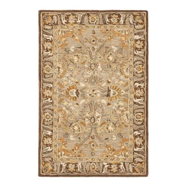 Safavieh AN558A Anatolia Area Rug, Dark Grey/Brown,AN558A-4