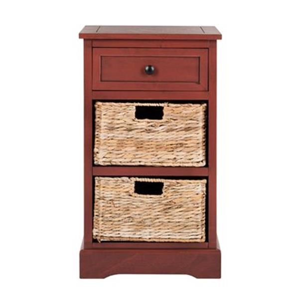 Safavieh Carrie 27.6-in Red Pine Storage Side Table