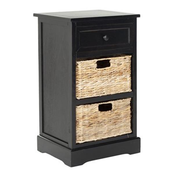 Safavieh Carrie 27.6-in Distressed Black Storage Side Table