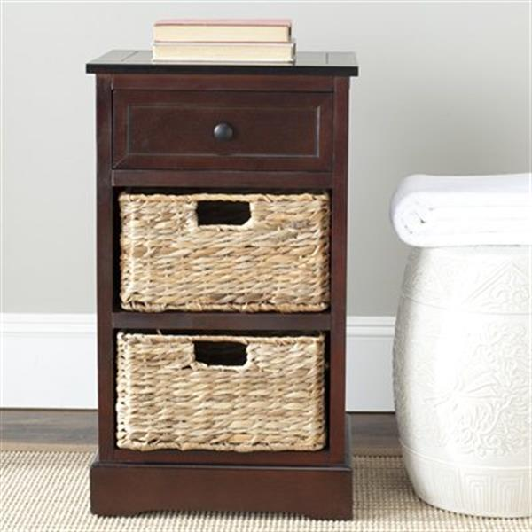 Safavieh Carrie 27.6-in Dark Cherry Storage Side
