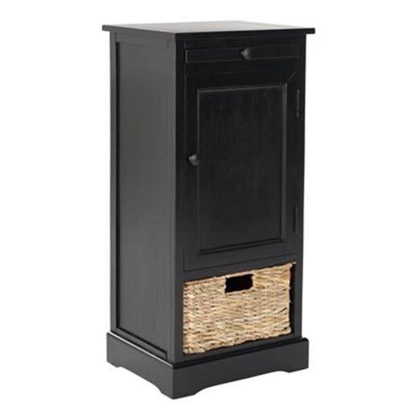 Safavieh Raven 34.3-in Distressed Black Tall Storage Table
