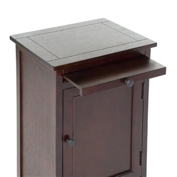 Safavieh Raven 34.3-in Dark Cherry Tall Storage Table