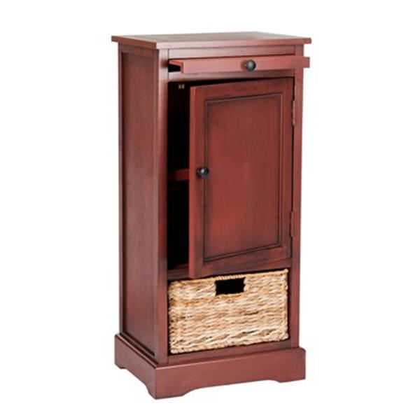 Safavieh Raven 34.3-in Red Pine Tall Storage Table