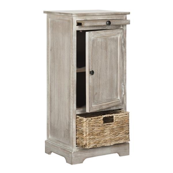 Safavieh Raven 34.3-in Vintage White Tall Storage Table