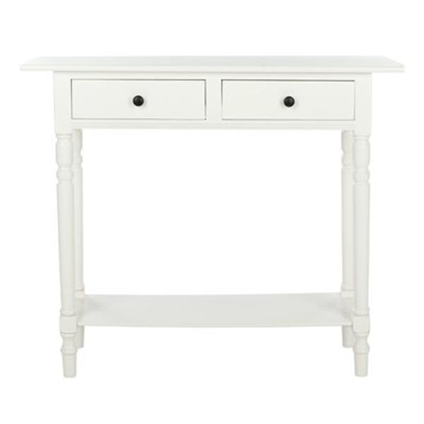 Safavieh Rosemary 2-Drawer Distressed Cream Wood Rectangular Console Table