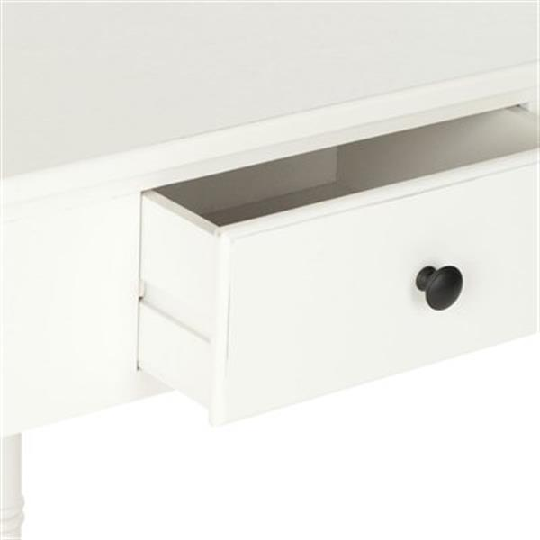 Safavieh Gomez 1-Drawer Distressed Cream Wood Corner Console Table