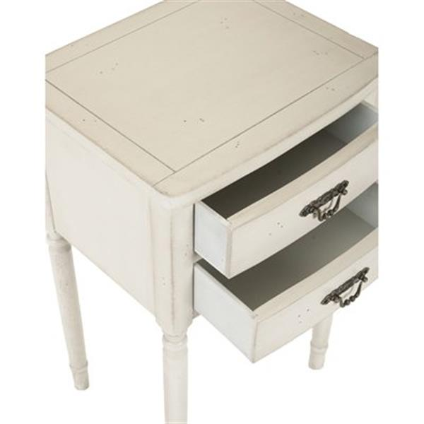 Safavieh Marilyn 30.1-in White End Table