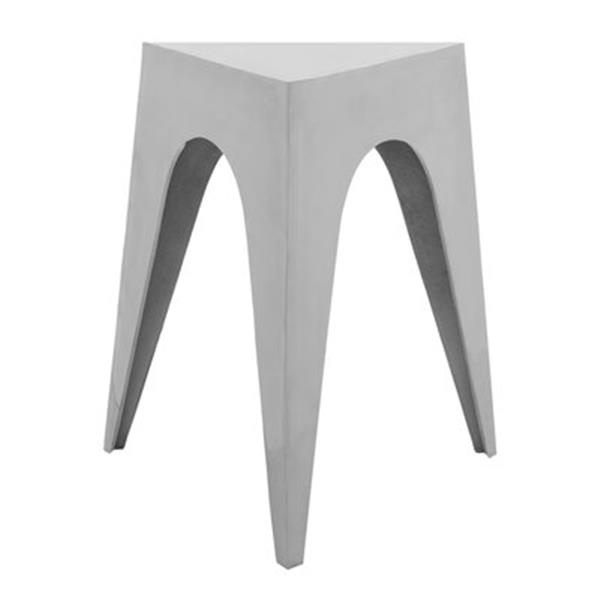 Safavieh Indium 21.3-in Silver Triangle Side Table