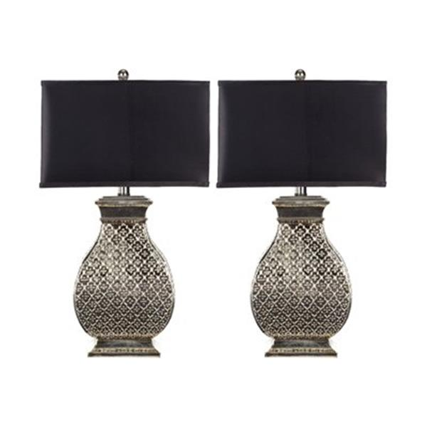 Safavieh 30-in Silver Royal Spain Table Lamps (Set of 2)