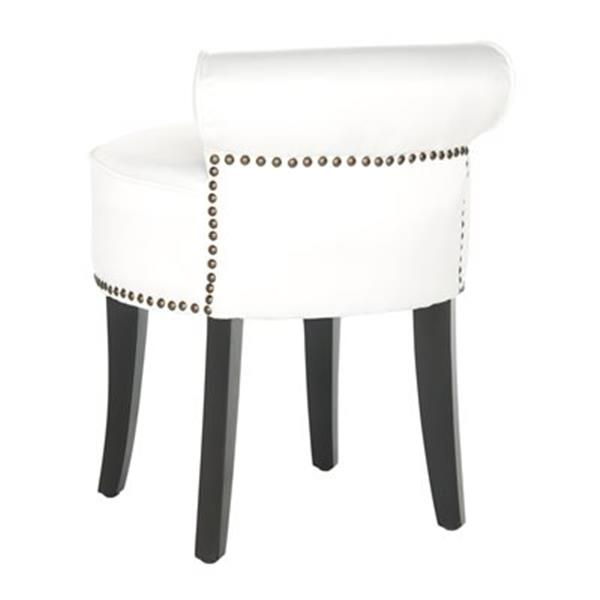 Safavieh White Mercer Georgia Vanity Stool