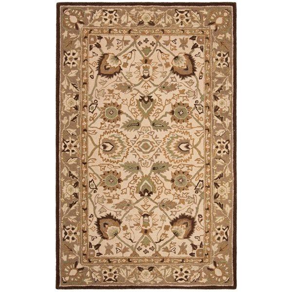 Safavieh AN512D Anatolia Area Rug, Ivory / Brown,AN512D-4