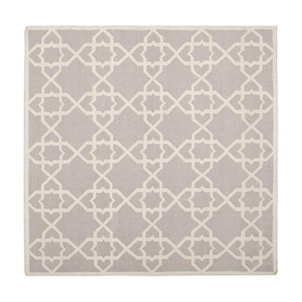 Safavieh DHU548G Dhurries Grey and Ivory Area Rug,DHU548G-6S