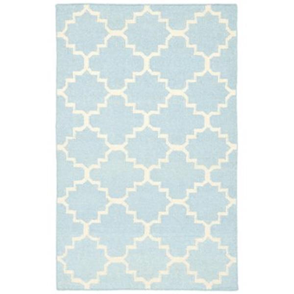 Safavieh Dhurries Light Blue and Ivory Area Rug,DHU554B-5