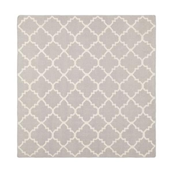 Safavieh Dhurries Grey and Ivory Area Rug,DHU554G-6SQ