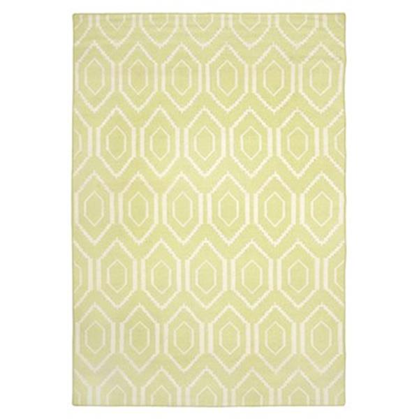 Safavieh Dhurries Green and Ivory Area Rug,DHU556A-5