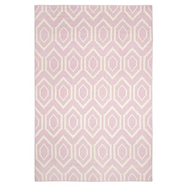 Safavieh Dhurries Pink and Ivory Area Rug,DHU556C-5
